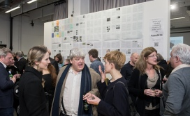 AAE 2016: Welcome drinks and launch of a special publication in conjunction with Architectural review to commemorate 175 years of Architectural Education at UCL. Held at Bartlett School of Architecture. 140, Hampstead Road, London. 07/04/2016.