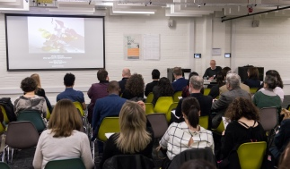 AAE 2016: Perry Kulper of the University of Michigan USA speaking on Design Methods: Deep agencies for Spatial Production during AAE, The Research Based Education 2016 international peer reviewed conference. Held at Bartlett School of Architecture. 140, Hampstead Road, London. 08/04/2016.