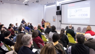AAE 2016: Lorraine Farrelly (University of Reading) speaking about Education for Uncertainty during AAE, The Research Based Education 2016 international peer reviewed conference. Held at Bartlett School of Architecture. 140, Hampstead Road, London. 08/04/2016.