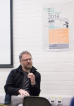 AAE 2016: Question from Bob Sheil during  AAE, The Research Based Education 2016 international peer reviewed conference. Held at Bartlett School of Architecture. 140, Hampstead Road, London. 08/04/2016.