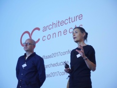 AAE Co-Chairs Dan Jary and Hannah Vowles, AAE 2017 'Architecture Connects' at Oxford Brookes University